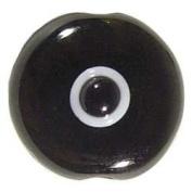 Black Evil Eye Bead with Hole