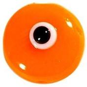 Orange Evil Eye Bead with Hole