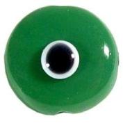 Dark Green Evil Eye Bead with Hole + 11 Colour Choices
