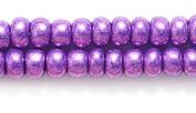 Preciosa Ornela Czech Seed Bead, Metallic Purple, Size 6/0