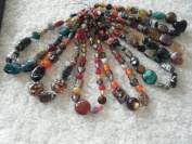 Murano Style 41cm Lampwork Necklace Kit - Approx 100 grammes