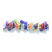 Shipwreck Peruvian Hand Crafted Ceramic Turtle Mix Beads, 9 by 15mm, Multicolor, 10 Per Pack