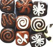 Peruvian 10mm Peruvian Hand Crafted Ceramic Chocolate Truffles Beads , Assorted, 10 per Pack