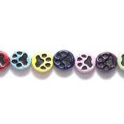 Shipwreck Peruvian Hand Crafted Ceramic Dog Print Mix Beads, 11mm, 10 Per Pack