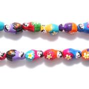 Shipwreck Peruvian Hand Crafted Ceramic Matrushka Nesting Doll Beads, 14mm, 10 Per Pack