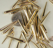 22mm Spikes Gold 80pcs