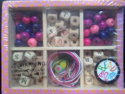Bead Alphabet Pink Mini-Box