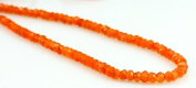 """Natural Orange Carnelian Faceted 4-5mm Beads String Strand 14"""""""