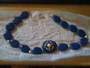 Avon Embellished Necklace Blue