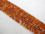 Carnelian Natural Gemstone Beads Red Colour 2.5x4mm Faceted Rondelle 140pcs 15.5''