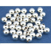 40 Ball Beads Sterling Silver Bead String Round Part