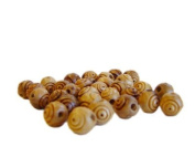 7.5mm round Rosary carved Beads (60 beads) - Betlehem Olive wood