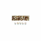 Preciosa 3-Mm Czech Crystal Diamond/Bicone Bead, Golden Flare, 144-Piece
