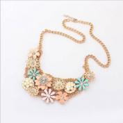 Cute Bohemia Flower Pattern Alloy Necklace Charm Luxury Jewellery Fit Club Party Wear,100224