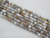 Agate Botswana Agate Beads Faceted Rondelle 2.5x4mm 130pcs 15.5''Per strand Jewellery Making