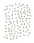 Tennessee Crafts 4194 Metal Findings Zinc Alloy Antique Silver Plated Snowflake Charm 18 by 20mm Beads, 100-Piece