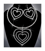 Bride Crystal Rhinestone Necklace Chain and Earring Set NEC-2064