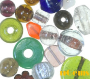 Jewellery Maker's EVerYThiNG But the KITchen SINK Glass Beads Very Large Size 250 Grammes 1/4 Kilo