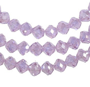 Pink Crystal Wide-round Beads Strand 8mm 15.5""