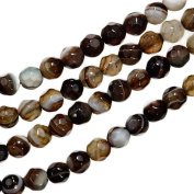 Agate Facet 4mm Round Small Beads Strand 15 Inch