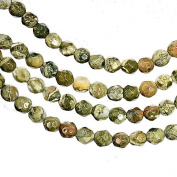 Rainforest Jasper 4mm Round Faceted Beads Strand 15.5 Inch