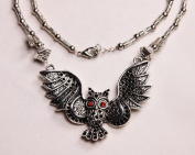 Silver Metal Owl Necklace - N008