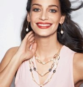 Layered Pearlesque Statement Necklace and Earring Gift Set