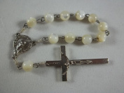 *Blessed* Mother of Pearl Rosary Beads with the Cross From Jerusalem