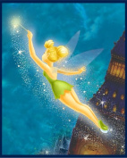 DISNEY Thomas Kinkade TINKER BELL Flannel Panel PETER PAN & NEVERLAND (Great For Quilting, Sewing, Craft Projects, Wall Hangings, and More) 90cm x 110cm Long
