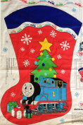 THOMAS the TANK ENGINE & FRIENDS Train Double Sided Fabric Panel (Makes a 80cm Tall JUMBO Christmas Stocking, Or Great For Quilting, Sewing, Craft Projects, Wall Hangings, and More) 110cm x 90cm