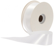 Offray Single Face Satin Craft 3.8cm by 50-Yard Ribbon Spool, White