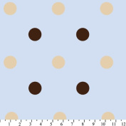 Big Polka Dots Fleece Throw Blanket with Finished Edges