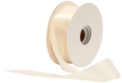Offray Single Face Satin Craft 3.8cm by 50-Yard Ribbon Spool, Ivory