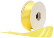 Offray Single Face Satin Craft 3.8cm by 50-Yard Ribbon Spool, Lemon