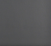 140cm G653 Grey, Bison Pronounced Leather Grain Upholstery Grade Recycled Leather (Bonded Leather) By The Yard