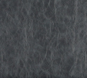 140cm G630 Grey, Distressed Leather Look Upholstery Grade Recycled Leather (Bonded Leather) By The Yard