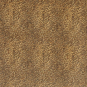 140cm E400 Yellow, Leopard, Animal Print, Microfiber Upholstery Fabric By The Yard