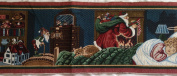 """HE SPOKE NOT A WORD"" Santa Christmas JACQUARD WOVEN TAPESTRY Table Runner Fabric Panel (Great For Sewing, Craft Projects, Wall Hangings, & Table Runners) 90cm Long"