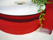 Burlap Ribbon Wired, Easy to Use, 1 1/2 Spool of 50 Yards. CLICK to View Many Colour Variations. Newest Trend for Premium Wreaths, Gorgeous Bows, Arts & Crafts Projects, Home Decor or Floral Arrangements. High Quality, Sought After Craft Riibbon