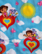 Nick, Jr DORA THE EXPLORER & BOOTS on Sky Blue FLEECE Fabric (Great for QUILTING, SEWING, CRAFT PROJECTS, THROW PILLOWS & More) 1 1/2 Yards x 130cm Wide