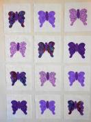 12 Applique Scrap Butterfly Quilt Kit Blocks 17cm Squares