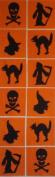 12 Applique Scrap Halloween Quilt Blocks 17cm Squares