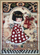 """Christmas """"DELIVERING JOY"""" Tapestry JACQUARD WOVEN Fabric Panel (Great For Sewing, Craft Projects, Wall Hangings, & More) 70cm x 90cm"""