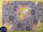 Disney's Peter Pan FLOATING TINKERBELL & PURPLE DANDELIONS FLEECE Fabric (Great for QUILTING, SEWING, CRAFT PROJECTS, THROW PILLOWS & More) 1 1/2 Yards x 150cm Wide
