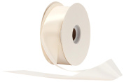 Offray Single Face Satin Craft 2.2cm by 100-Yard Ribbon Spool, Antique White