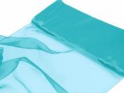 140cm x 10 yards Chiffon Fabric Wedding Fabric Put-Up - Turquoise