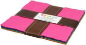 Kona Cotton Solids CLASSIC PALETTE Layer Cake 25cm Fabric Quilting Squares Robert Kaufman TEN-137-42
