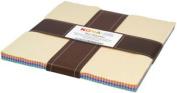 Kona Cotton Solids PASTEL PALETTE Layer Cake 25cm Fabric Quilting Squares Robert Kaufman TEN-136-42