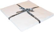 Kona Cotton SOLIDS SNOW Layer Cake 25cm Fabric Quilting Squares Robert Kaufman TEN-121-42