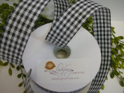 Gingham Cheque Ribbon Wired-Easy to Work with, 1 ½ Inch Spool, 50 Yds - Many Colours Available; Newest Trend for Premium Wreaths, Gorgeous Bows, Arts & Crafts Projects, Home Décor or Floral Arrangements